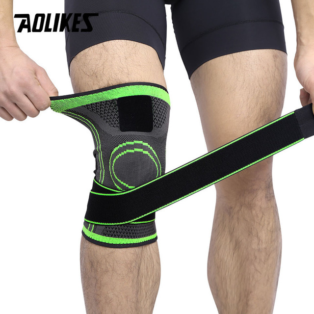d3afdeb3b1 AOLIKES 1PCS 3d Pressurized Fitness Running Cycling Bandage Knee Support  Braces Elastic Nylon Sports Compression Pad Sleeve