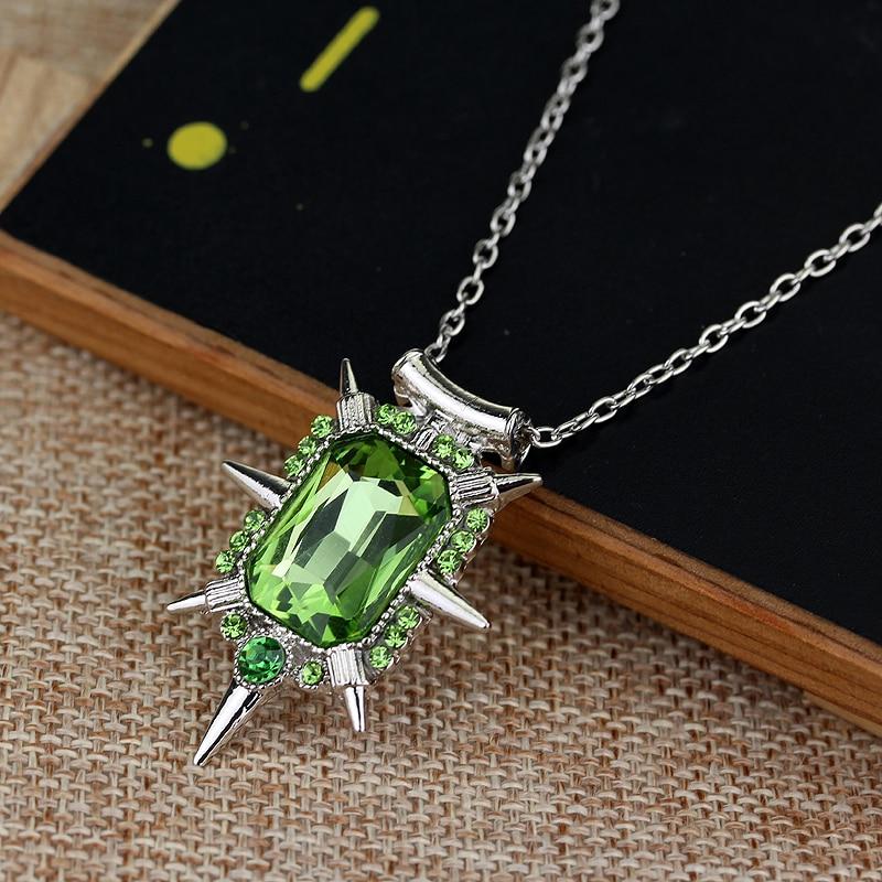 Film Schmuck Nizza Einmal auf eine zeit wicked hexe Zelena glinda glas anhänger Halskette große Andenken geschenk für fans
