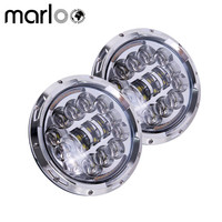 Marloo 7 Offroad Projector Series 7 Round LED Headlights White DRL Amber Turning Signal Lights For
