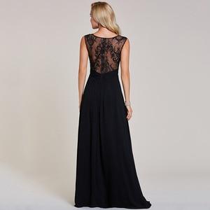 Image 2 - Dressv black evening dress cheap sleeveless a line scoop neck zipper up sleeveless wedding party formal evening dresses