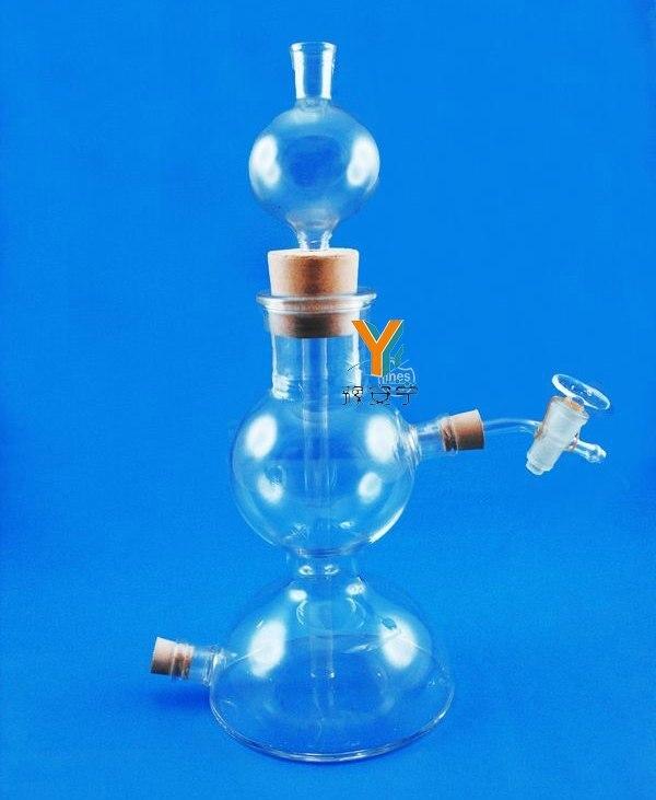 무료 배송 125 ml kipp's apparatus 화학 실험실 장비, 유리웨어-에서실험실 난방 설비부터 사무실 & 학교 용품 의  그룹 1