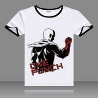 Hot Anime One Punch Man T-shirts Black O-Neck Short Sleeve Tops Fashion Saitama Printed Genos Tees for Summers 3