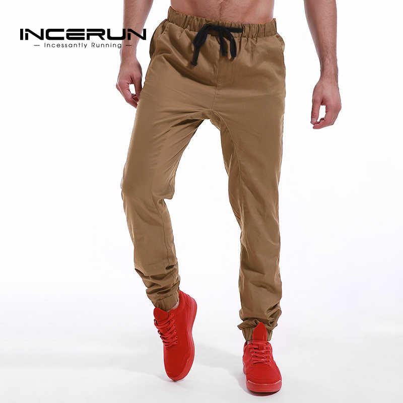 b4ccf10a698 ... INCERUN 2018 Summer Men Leisure Causal Harem Pants New Fashion Hip Hop  Chinos Trousers Joggers Cotton ...