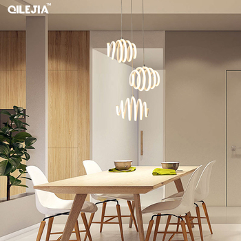 1 or 3 heads lamp design Modern LED pendant lights for living Dining room kitchen suspension luminaire lamp de techo colgante