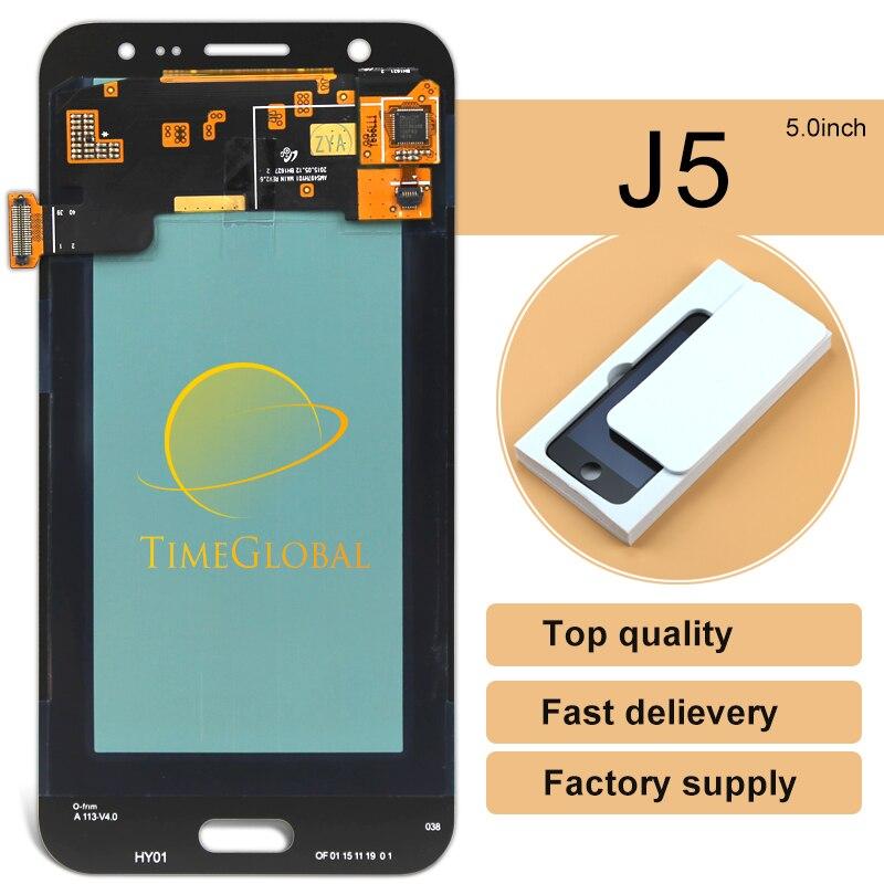 10 unids highscreen teléfono móvil lcd de pantalla para samsung galaxy j5 j500 p
