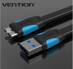 Vention Super Speed USB 3.0 A to Micro-B Cable For Portable Hard Drive Galaxy Note3
