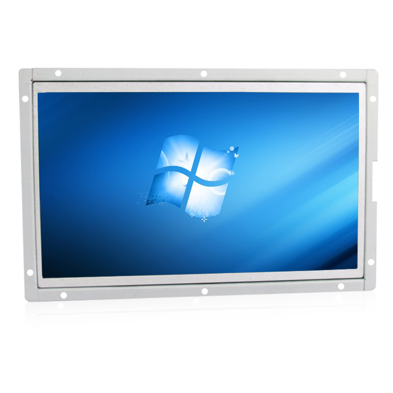 10.1 inch resistive touch lcd monitor vga dvi usb interface metal shell open frame industrial control 1024*600 resolution 15 inch tft lcd monitor 1024 768 open frame monitor with vga dvi interface
