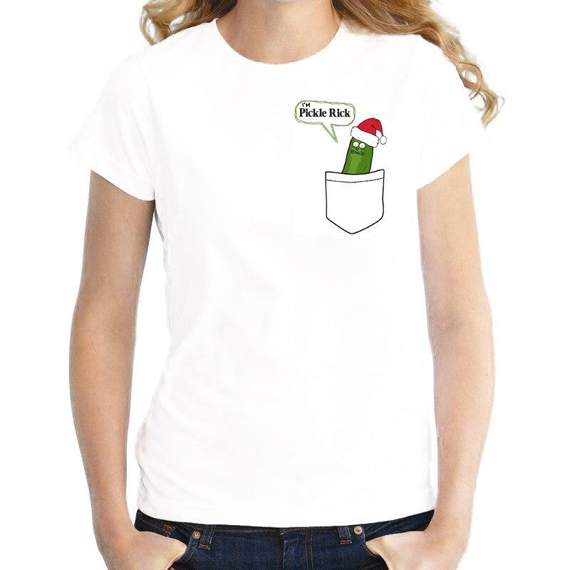 Рассольник Рик футболка женский Harajuku Kawaii рубашка Рик и Морти футболка смешные Рик Морти печатных футболки женские топы