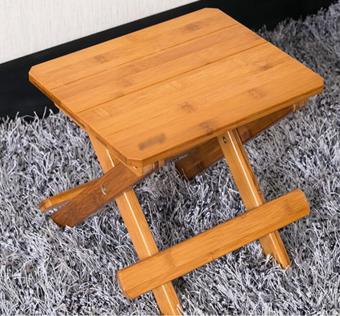 Bamboo bamboo portable folding stool have small bench wooden fishing outdoor folding stool campstool train 17 styles shoe stool solid wood fabric creative children small chair sofa round stool small wooden bench 30 30 27cm 32 32 27cm