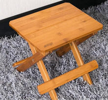 Bamboo bamboo portable folding stool have small bench wooden fishing outdoor folding stool campstool train(China)