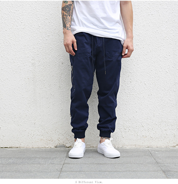 Odinokov brand 2017 Fitness Long Pants Men Casual Sweatpants Baggy Jogger Trousers Fashion Fitted Bottoms streetwear hiphop