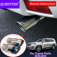QCBXYYXH Car Styling Stainless Steel REAR Exhaust Pipe Tail Pipe Muffler For Toyota Prado 2018 External