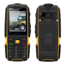 Suppu X6000 Русский Испанский, Арабский длительным временем ожидания двойной карточки Power Bank зарядки fm 100% натуральная прочный водонепроницаемый мобильный телефон P061
