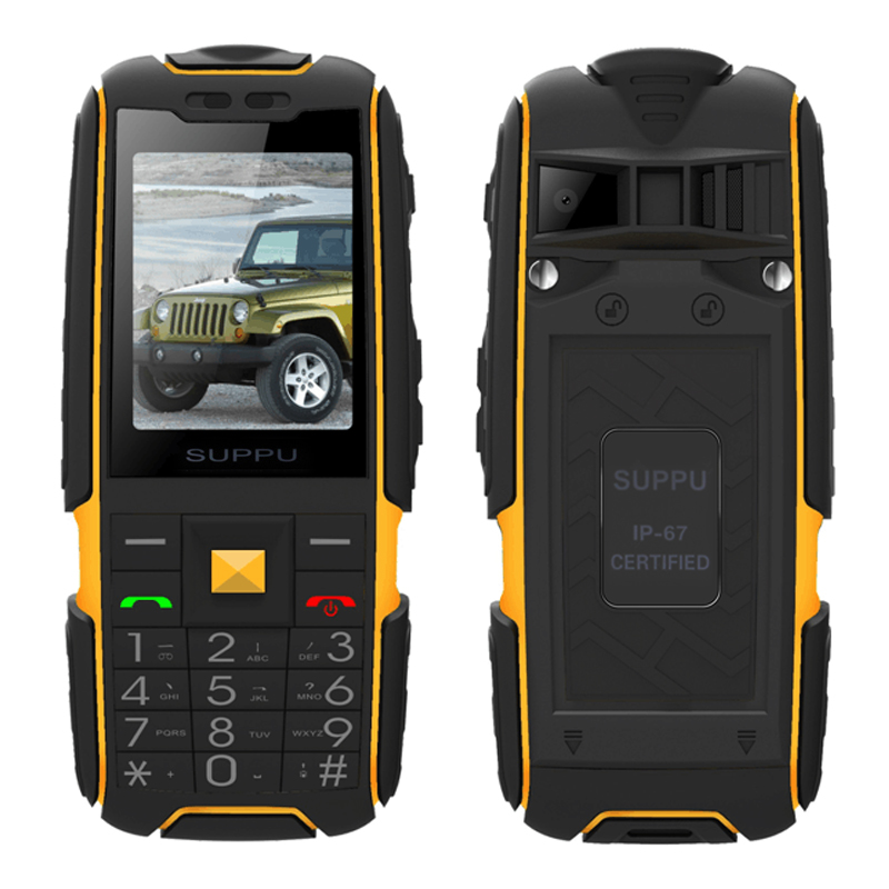SUPPU X6000 Russian long standby Dual Card <font><b>power</b></font> bank FM radio shockproof IP67 100% real waterproof Rugged mobile phone P061