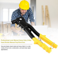Professional Level Manual Heavy Duty 2 Way Hand Riveter Manual Pop Rivet Gun Riveting Gun Pull