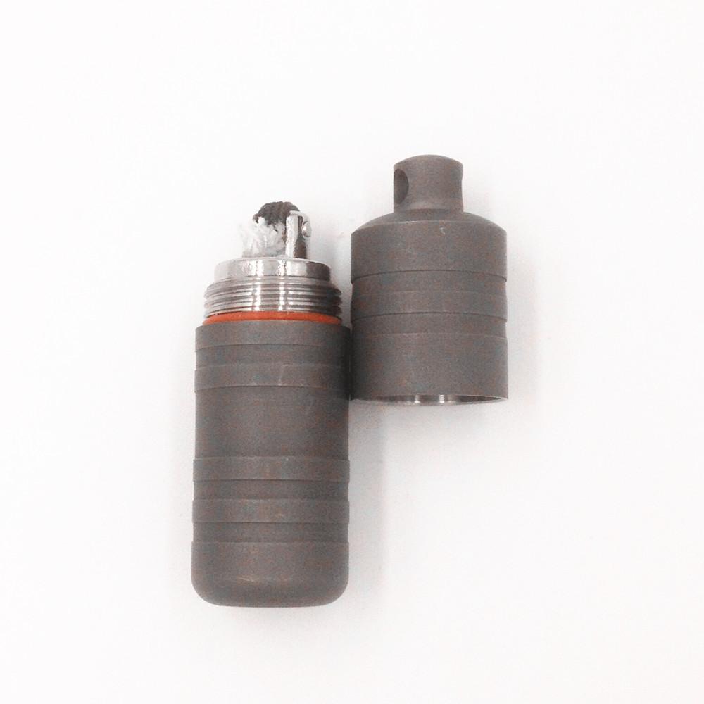 Prix pour Jolmo lander titanium porte-clés briquet étanche fluide léger mini feu cachette d'arachide pétrole léger survie outil edc vitesse
