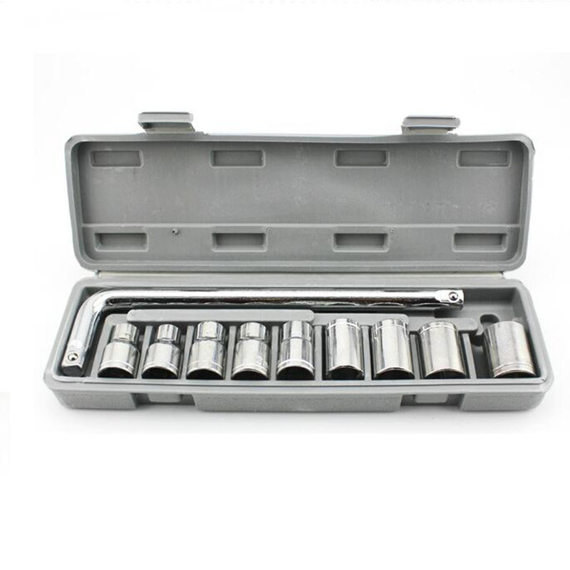 10 pcs 1/2 Socket Wrench Spanner Set Automobile Repair Tool Box Precision Sleeve Wrench high quality