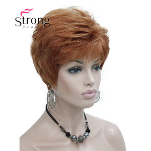 Image 5 - StrongBeauty Very Short Orange Brown Blonde High Heat Resistant Full Synthetic Wig COLOUR CHOICES