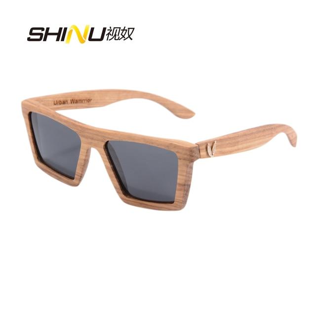 a5d6abe835f6b8 Kwaliteit Gepolariseerde Hout Zonnebril Mannen Grote Vierkante Volledige  Houten Frame Glazen Merk Designer Eyewear Google Zonnebril