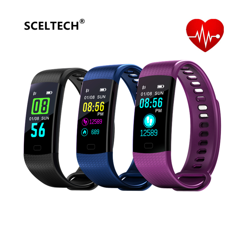 SCELTECH Y5 Smart Band IP67 waterproof Heart Rate Fitness bracelet with Blood Pressure oxygen Monitor pedometer Activity Tracker