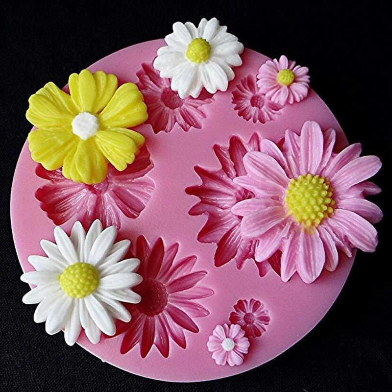 Rose ดอกไม้ซิลิโคนแม่พิมพ์เค้กช็อกโกแลตแม่พิมพ์เค้กตกแต่งเครื่องมือ Fondant Sugarcraft เค้กแม่พิมพ์