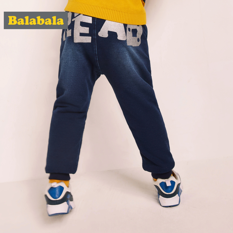 Balabala Todder Boy Fleece-Lined Pull-on Jeans with Applique Kids Boys Cotton Jeans in Washed Denim with Pocket Ribbed WaistBalabala Todder Boy Fleece-Lined Pull-on Jeans with Applique Kids Boys Cotton Jeans in Washed Denim with Pocket Ribbed Waist