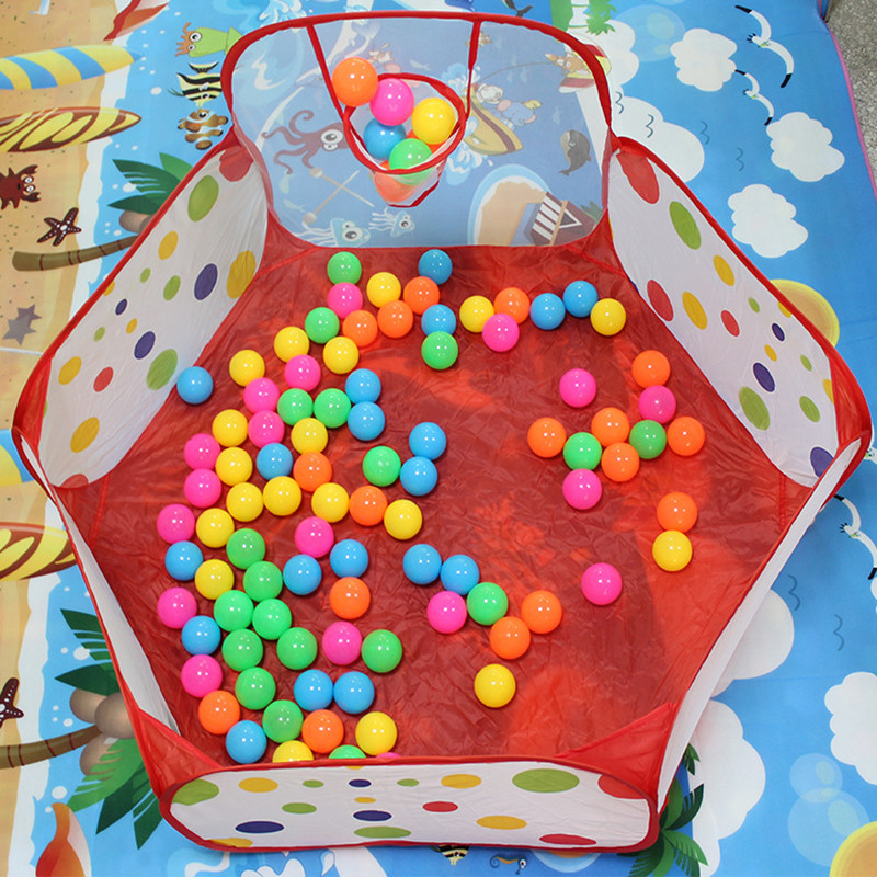 New Arrival 90cm Funny Basketball Children Kids Baby Easy Folding Toy Tent Ball Pit Playhouse Pop Up Garden Pool Hot Sale