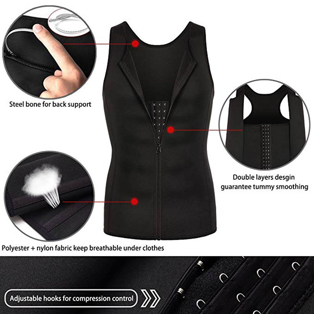 Image 4 - Lover Beauty Men Shapewear Slimming Compression Shirt for Body Slimming Tank Top Shaper Tight Undershirt Tummy Control Girdle-in Shapers from Underwear & Sleepwears