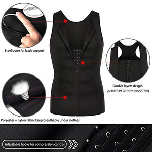 Image 4 - Lover Beauty Men Shapewear Slimming Compression Shirt for Body Slimming Tank Top Shaper Tight Undershirt Tummy Control Girdle