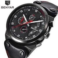 BENYAR Sport Men Watches Top Brand Luxury Waterproof Military Chronograph Quartz Man Watch Army Male Clock