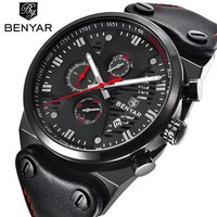 BENYAR Sport Men Watches Top Brand Luxury Waterproof Military Chronograph Quartz Man Watch Army Male Clock