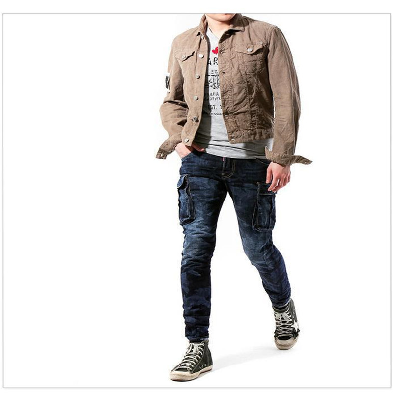 ФОТО New Fashion Casual Camouflage Skinny Men Jeans Mens Designer Clothes Locomotive Motorcycle D Men Jeans Pants Pantalons Homme