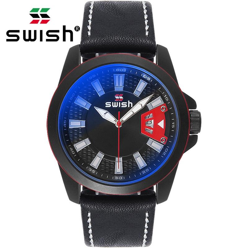 SWISH montres uniques conception montre-bracelet à Quartz pour hommes créatif horloge décontractée cadeau de l'heure nouvelles montres