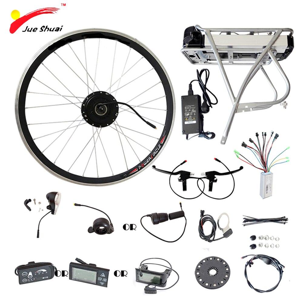 250 Вт 350 Вт 500 Вт Электрический колеса велосипеда двигателя 36 В 12AH Батарея Дисплей контроллер Ebike Электрический велосипед комплект elektrikli bisiklet