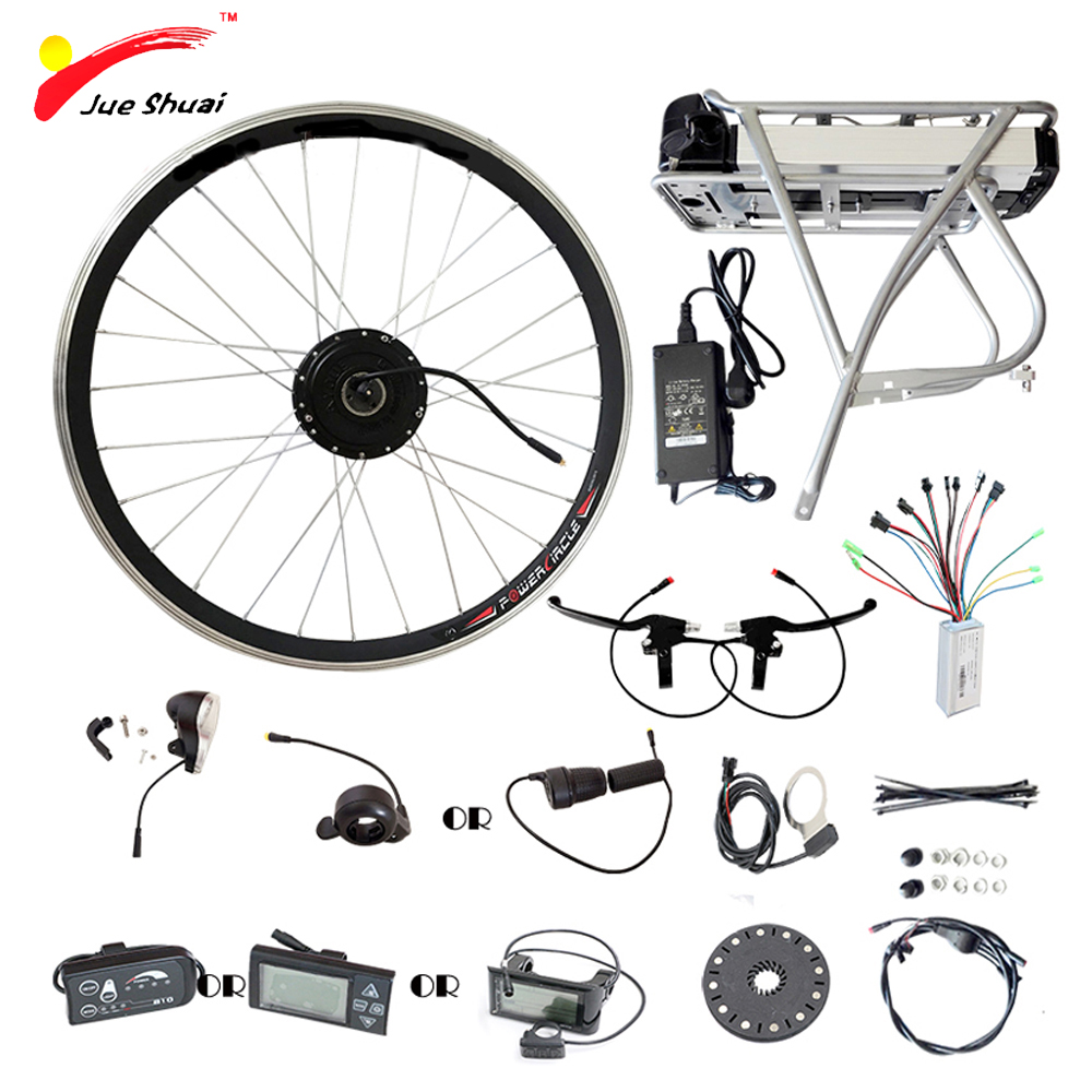 250 w 350 w 500 w Électrique Roue De Vélo Moteur 36 v 12AH Batterie Affichage Contrôleur Ebike Vélo Électrique Vélo kit elektrikli bisiklet