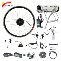 250W 350W 500W 36V Rear Carrier Battery Electric Bicycle Kits Electric Bike Conversion Kit With LED