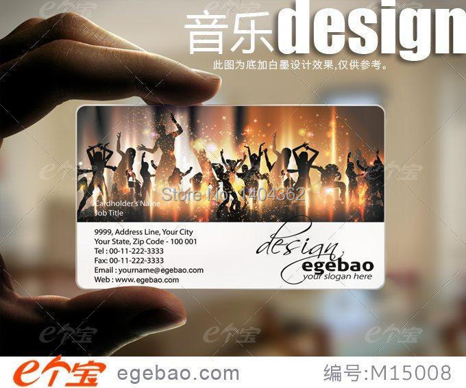 Customized business card printing Plastic transparent /White ink PVC Business Card one faced printing 500 Pcs/lot NO.2197