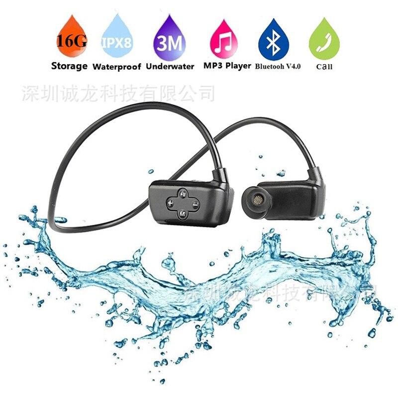 Date 901 P Bluetooth étanche 16G HIFI lecteur MP3 IPX8 natation Sport de plein air sans fil écouteurs USB MP3 lecteurs de musique