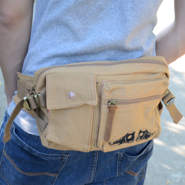 Augur2017 man bag chest pack waist pack canvas bag mobile phone bag wallet
