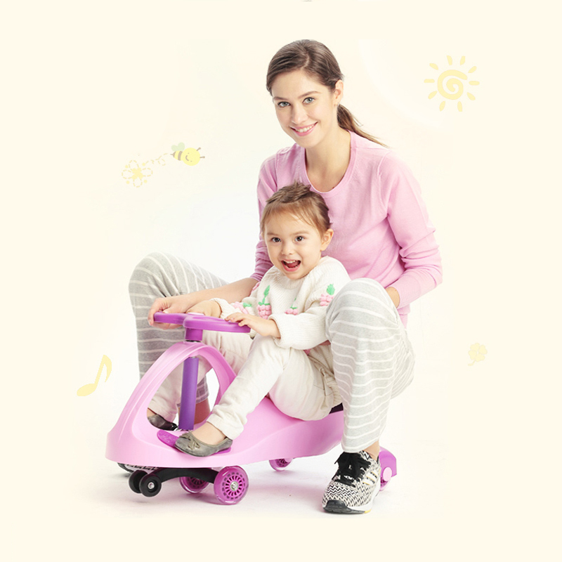 Ride On Toy-blue/pink/green New PP Children Ride On Plasma Car / Kids Twist Car / Baby Swing Car