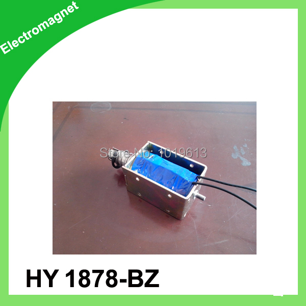 30mm Stroke 2Kg Holding Force Open Frame Push Type Solenoid Electromagnet HY0878-BZ
