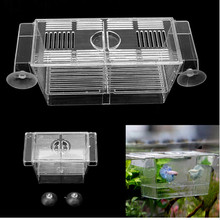 Urijk Small Aquarium Fish Tank Double Breed Incubator Breeder Rearing Trap Box Hatchery