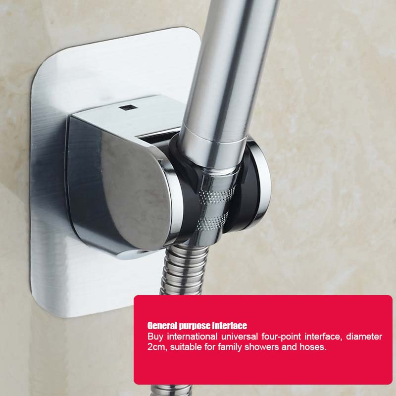 Bath Toilet Handle Rotatable Adjustable Sprinkler Shower Head Nozzle Hose Holder