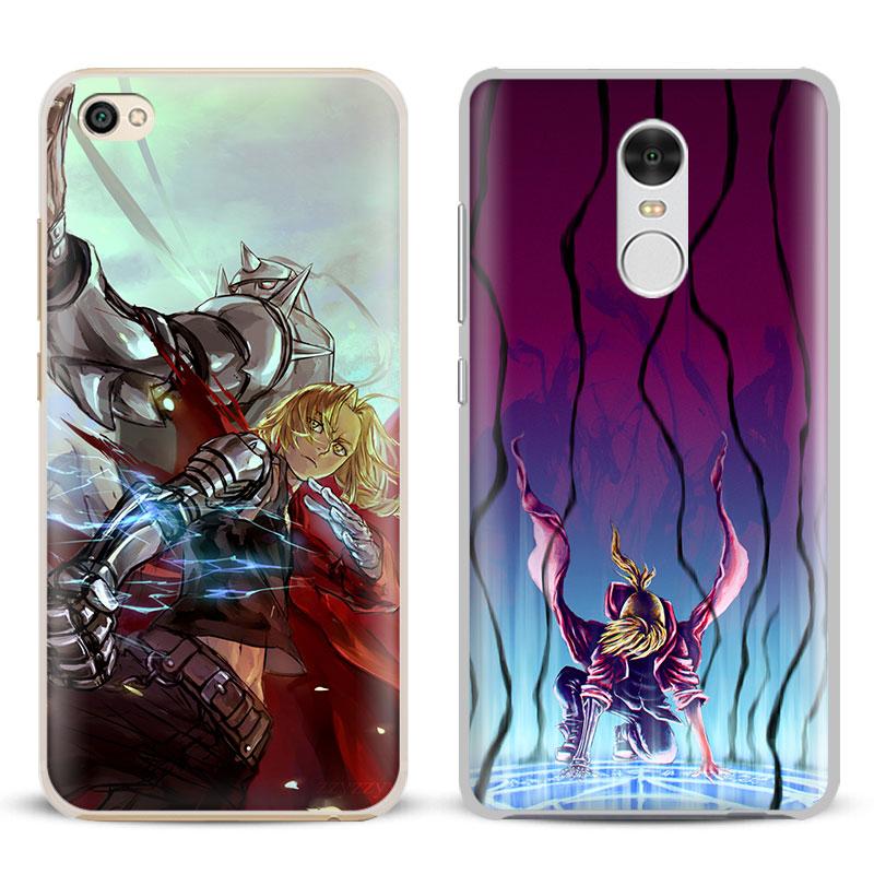 FullMetal Alchemist Anime Coque Phone Case Shell Cover For Xiaomi Redmi Note 4 4X 5A 6 6A PRO Mi 8 5 5S PLUS Max A1 Note 2 3