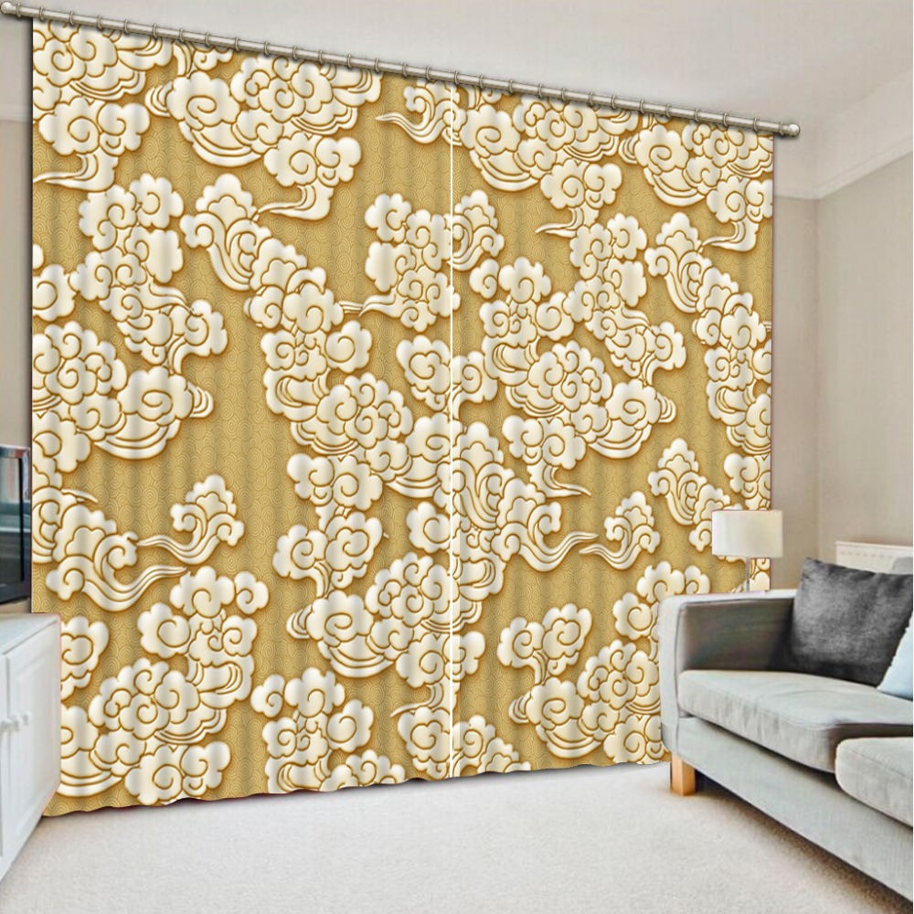 Window Treatments Blackout Curtains For Living Room Bedroom Drapes Pattern European Luxury Curtains For Home Hotel Cafe Office