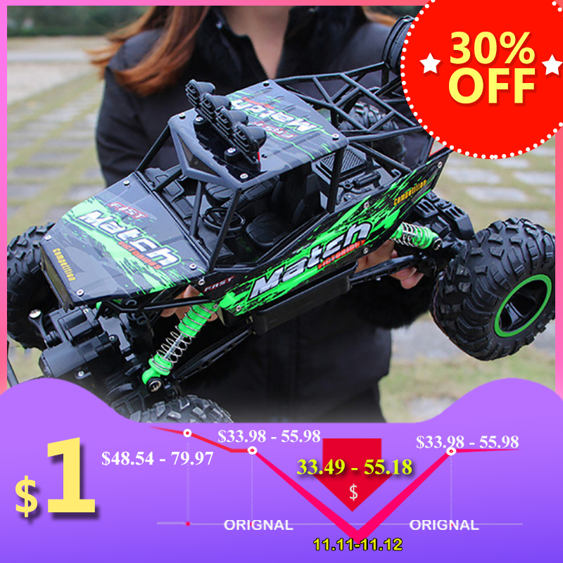 1:12 4WD RC Cars Updated Version 2.4G Radio Control RC Cars Toys Buggy 2017 High speed Trucks Off-Road Trucks Toys for Children wltoys 12402 rc cars 1 12 4wd remote control drift off road rar high speed bigfoot car short truck radio control racing cars