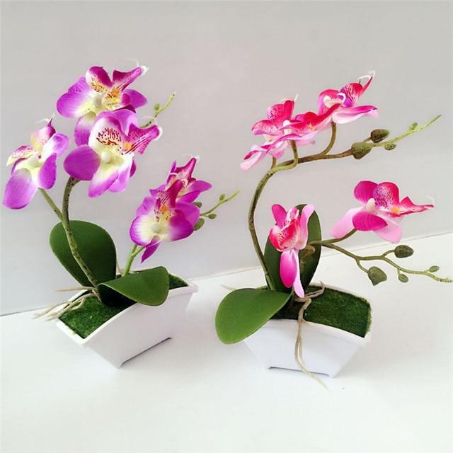 Double Fourche Branche Papillon Orchidee Plante Bonsai Creative