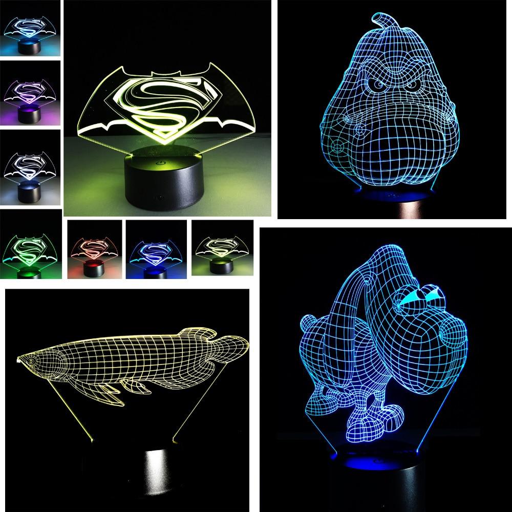 Luzes da Noite 3d optical illusion 7 mudança Marca : Amroe