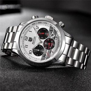 Image 3 - Часы хронограф мужские спортивные из нержавеющей стали, 5107