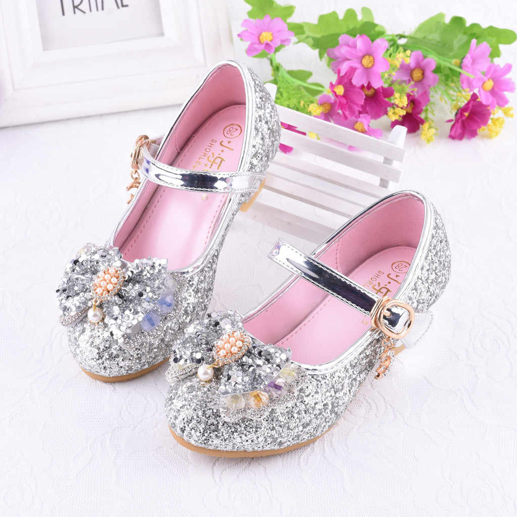 e0ab1fe4147e ... Infant Kids Baby Girls Pearl Crystal Bling Bowknot Single Princess Shoes  Sandals Cherry Single Party Shoes ...